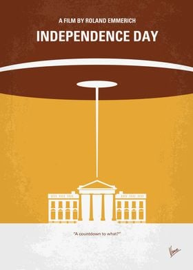 No249 My INDEPENDENCE DAY minimal movie poster The ali ...