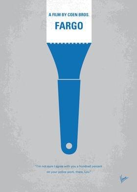 No283 My FARGO minimal movie poster Jerry Lundegaard's ...