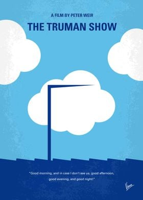 No234 My Truman show minimal movie poster An insurance ...