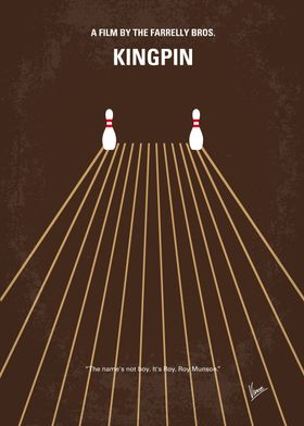 No244 My KINGPIN minimal movie poster A star bowler wh ...