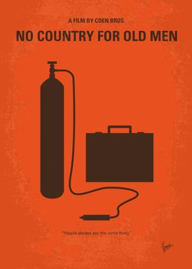 No253 My No Country for Old men minimal movie poster V ...