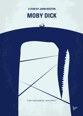 No267 My MOBY DICK minimal movie poster The sole survi ...