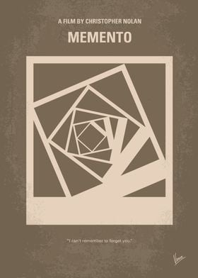 No243 My Memento minimal movie poster A man, suffering ...