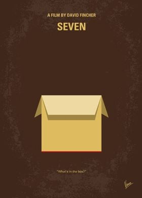 No233 My Seven minimal movie poster Two detectives, a ...