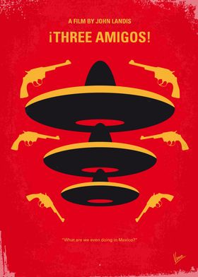 No285 My Three Amigos minimal movie poster Three unemp ...