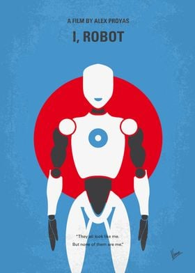 No275 My I ROBOT minimal movie poster In the year 2035 ...