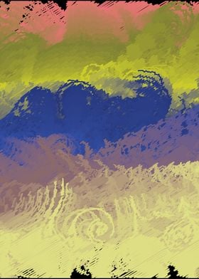Vector Paint Abstract Art ~ Paint strokes and colors. A ...