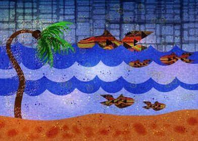 California Dreaming Symbolism ~ Palm tree and ocean lan ...
