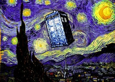 The Tardis in the Starry Night - Dr. Who and Vincent Va ...