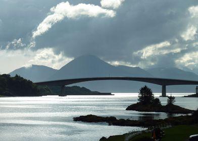 Grey Sky Dark Skye Bridge