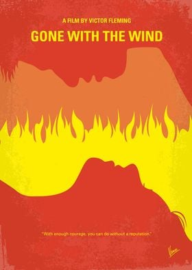 No299 My Gone With the Wind minimal movie poster A man ...