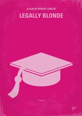 No301 My Legally Blonde minimal movie poster When a bl ...