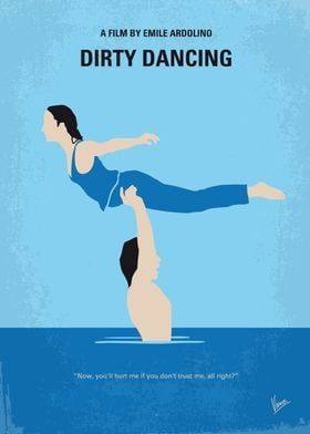 No298 My Dirty Dancing minimal movie poster Spending th ...