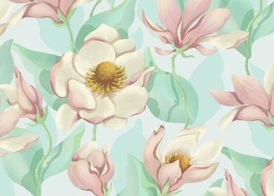 Magnolia Bloom - pastel tones