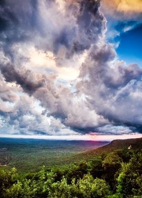 Take at the peak of Cheaha, the tallest mountain in Ala ...