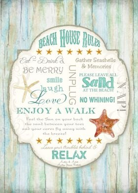 Beach House Rules | copyrighted text