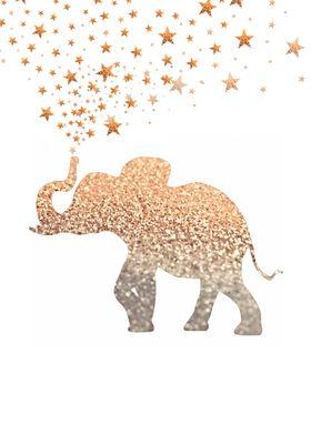 GATSBY GOLD ELEPHANT GLITTER