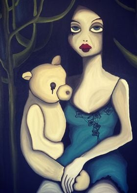 virgin with teddy bear
