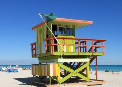 Miami Beach Lifeguard Stand