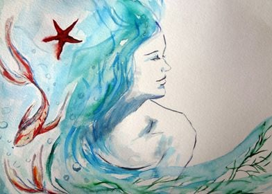 Under the Sea. watercolors and ink.