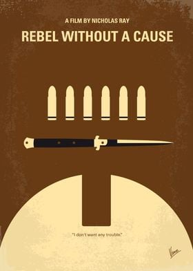 No318 My Rebel without a cause minimal movie poster A ...
