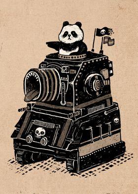 Panda's Terrible Tank of Terror - Vintage Style