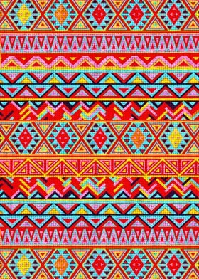 Indian Style Pattern (Multicolor)