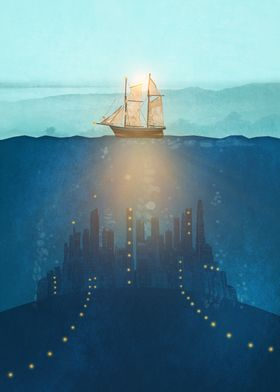 The Underwater City that was destroyed before the whale ...