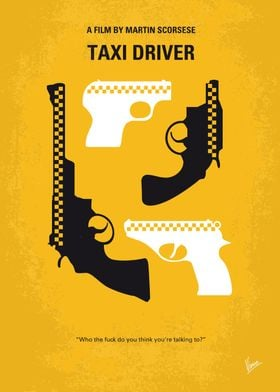 No087 My Taxi Driver minimal movie poster Taxi, Driver ...