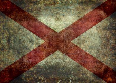 State Flag of Alabama - Vintage version