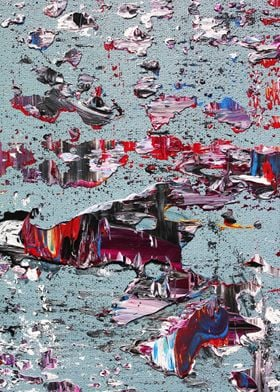 """Detail """"plate"""" of my original abstract painting: kyan ..."""