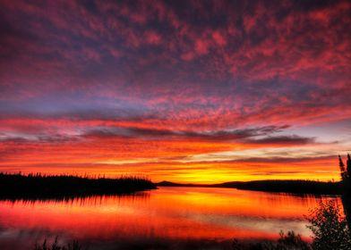 Another sunrise, lac aux dorés