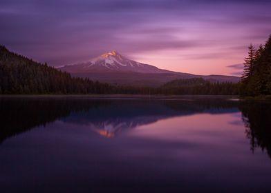 Trillium Lake at Twilight