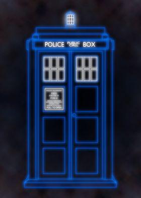 Neon TARDIS