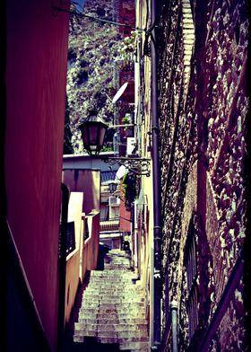 Streets of Taormina Italy