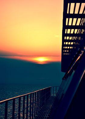 Sunset @ sea cruise Italy