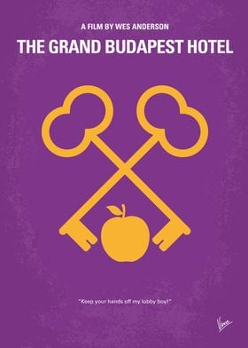 No347 My The Grand Budapest Hotel minimal movie poster ...