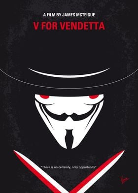 No319 My V for Vendetta minimal movie poster In a futur ...