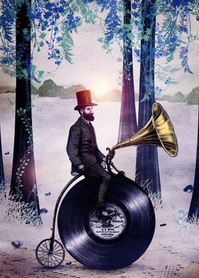 Music man in the forest collaboration with Eric Fan