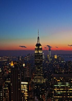 Empire State Building at Sunset/Twilight