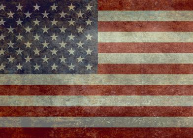 Flag of the United States of America - Vintage version. ...