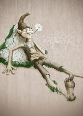 Relaxing elf