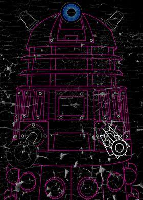 Dalek - Pink - Distressed