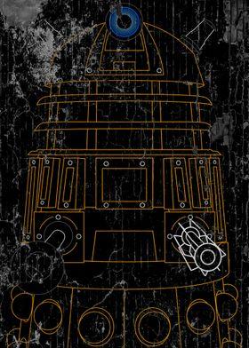 Dalek - Orange - Distressed