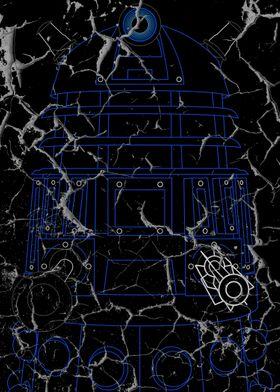Dalek - Blue - Distressed
