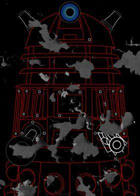 Dalek - Red - Distressed