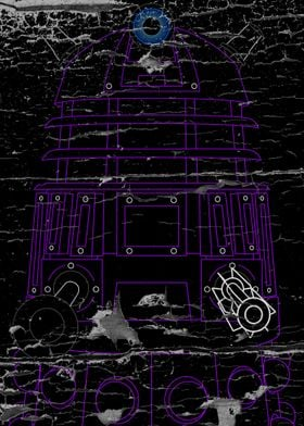 Dalek - Purple - Distressed