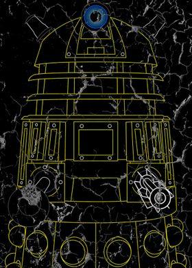 Dalek - Yellow - Distressed