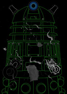 Dalek - Green - Distressed