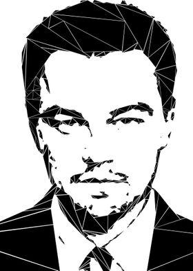 Leonardo DiCaprio - each triangle is placed manually.